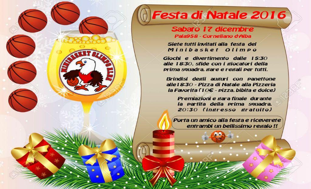 Festa Del Natale.Mega Festa Di Natale Per Bambini E Ragazzi Del Minibasket