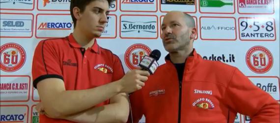 Coach Jacomuzzi ai microfoni di Olimpo TV dopo Alba – Cus Torino (4ª gironata rit. Serie C Gold)