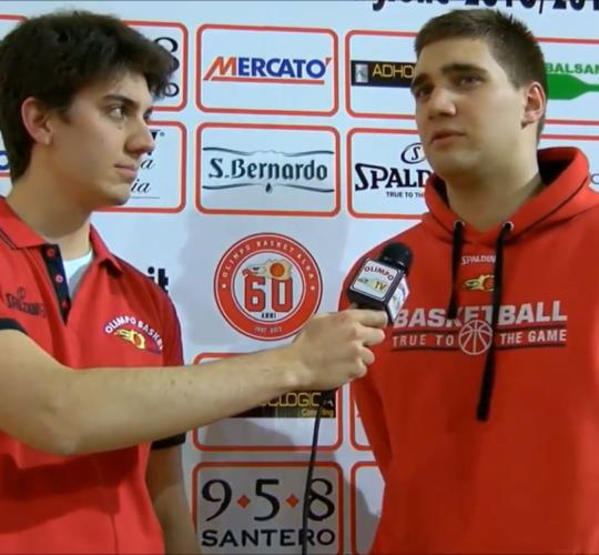 Stefano Gioda ai microfoni di Olimpo TV dopo Alba – Collegno (7ª giornata rit. Serie C Gold)