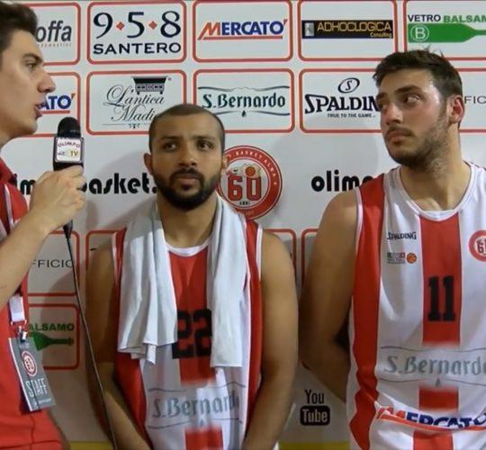 Gara 3: Castillo e Gallo ai microfoni di Olimpo TV dopo Alba – Borgomanero (Quarti di finale)