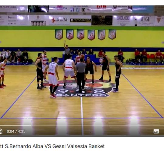 Serie B: HL Witt S.Bernardo VS Gessi Valsesia Basket