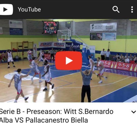 Serie B: Witt S.Bernardo VS Biella